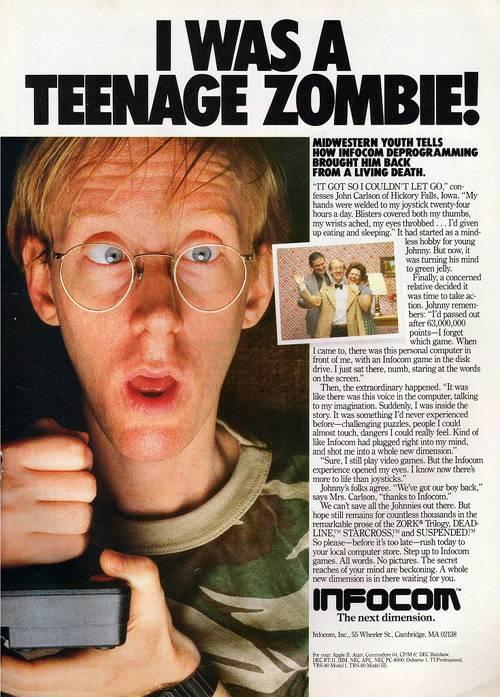Infocom advertisement: I was a teenage zombie