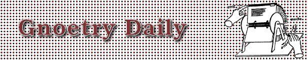 Gnoetry daily banner
